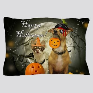 Happy Halloween Chihuahuas Pillow Case