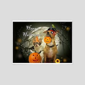 Happy Halloween Chihuahuas 5'x7'Area Rug