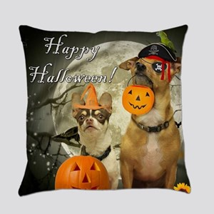 Happy Halloween Chihuahuas Everyday Pillow