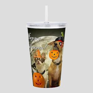 Happy Halloween Chihua Acrylic Double-wall Tumbler