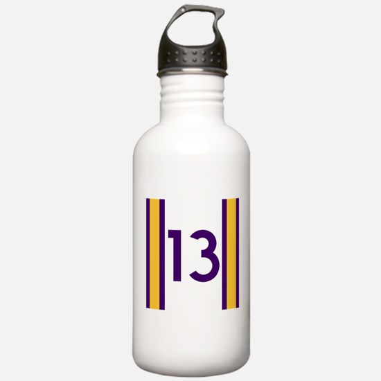 thirteen purple and go Water Bottle