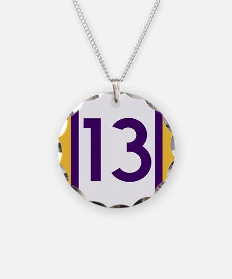 thirteen purple and gold Necklace