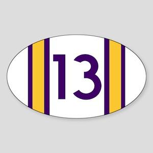 thirteen purple Sticker