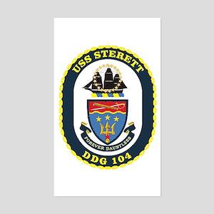 USS Sterett Rectangle Sticker
