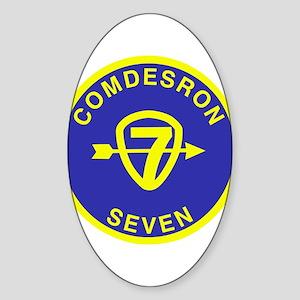 Desron 7 Sticker (Oval)