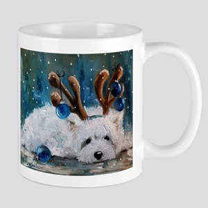 Blue Christmas Stainless Steel Travel Mugs
