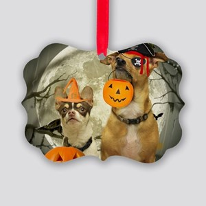 Halloween Chihuahuas Picture Ornament