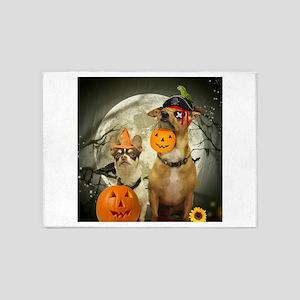 Halloween Chihuahuas 5'x7'Area Rug