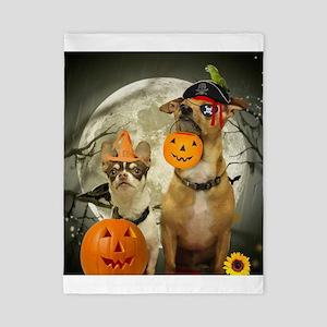 Halloween Chihuahuas Twin Duvet