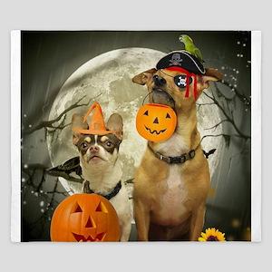 Halloween Chihuahuas King Duvet