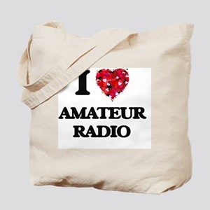 I Love Amateur Radio Tote Bag