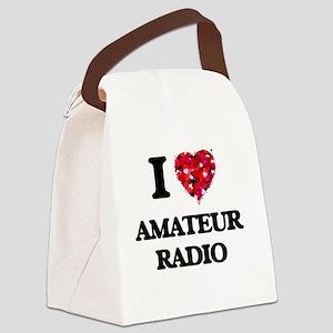 I Love Amateur Radio Canvas Lunch Bag