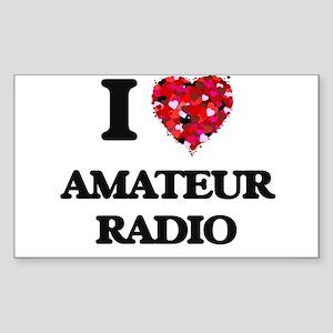 I Love Amateur Radio Sticker