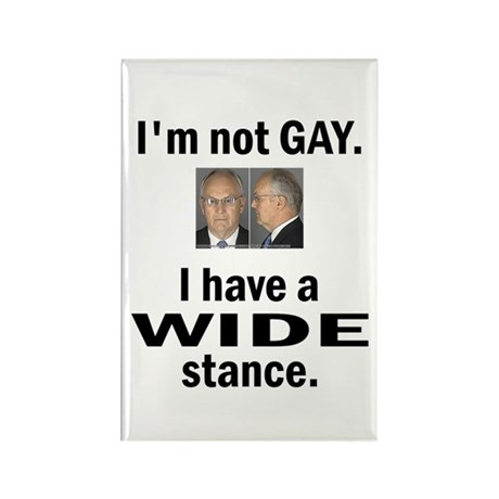I'm Not Gay. I have a Wide Stance Rectangle Magnet