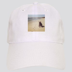 French Bulldog on the Beach Baseball Cap