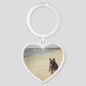 French Bulldog on the Beach Keychains