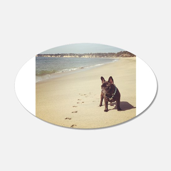 French Bulldog on the Beach Wall Decal