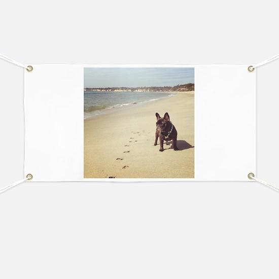 French Bulldog on the Beach Banner