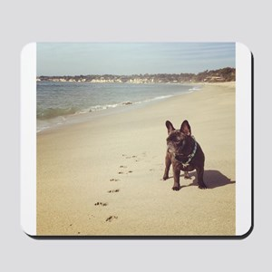 French Bulldog on the Beach Mousepad
