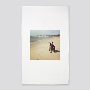 French Bulldog on the Beach Area Rug