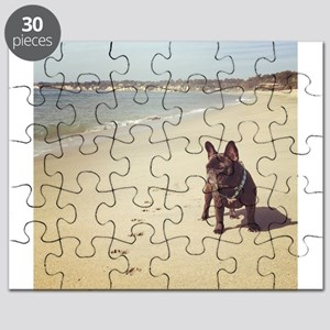 French Bulldog on the Beach Puzzle