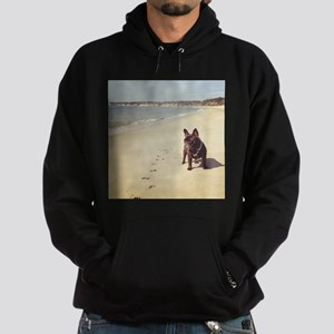 French Bulldog on the Beach Hoodie