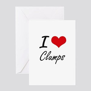 I love Clumps Artistic Design Greeting Cards