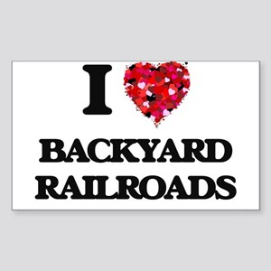 I Love Backyard Railroads Sticker