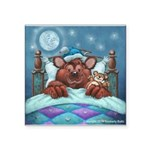 "Barney The Bear Square Sticker 3"" X 3"""