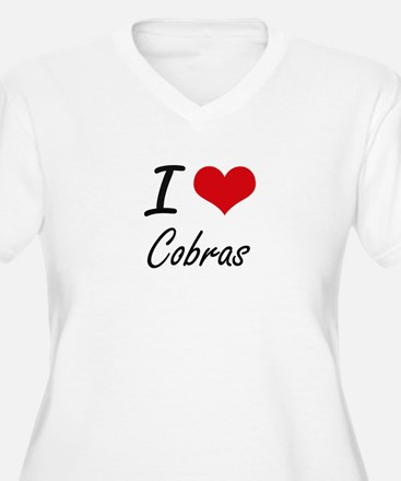 I love Cobras Artistic Design Plus Size T-Shirt