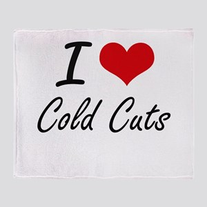 I love Cold Cuts Artistic Design Throw Blanket