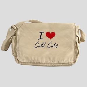 I love Cold Cuts Artistic Design Messenger Bag