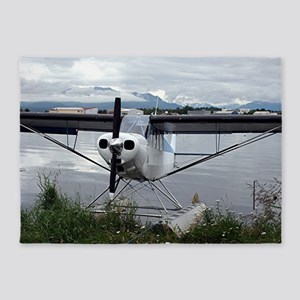 Float plane, Lake Hood, Alaska 21 5'x7'Area Rug