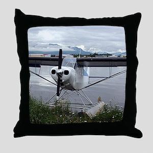 Float plane, Lake Hood, Alaska 21 Throw Pillow