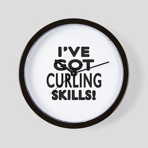 Curling Skills Designs Wall Clock