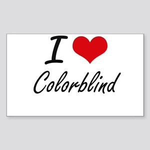 I love Colorblind Artistic Design Sticker