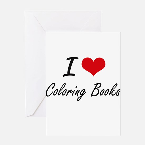 I love Coloring Books Artistic Desi Greeting Cards