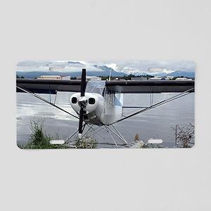 Float plane, Lake Hood, Ala Aluminum License Plate