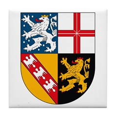 Saarland Coat of Arms Tile Coaster