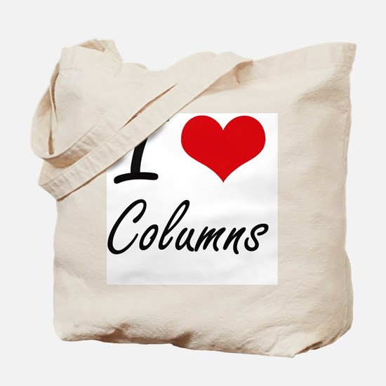 I love Columns Artistic Design Tote Bag