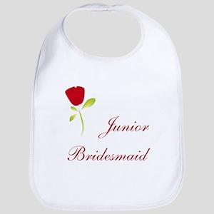 Red Junior Bridesmaid Bib