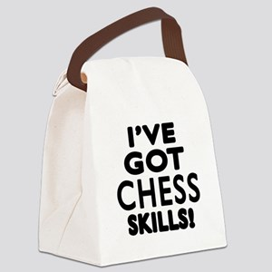 Chess Skills Designs Canvas Lunch Bag