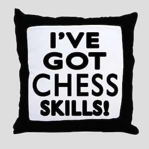 Chess Skills Designs Throw Pillow
