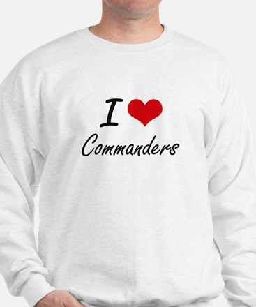 I love Commanders Artistic Design Sweatshirt