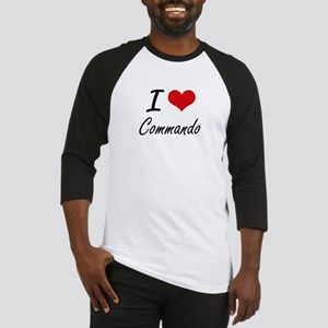 I love Commando Artistic Design Baseball Jersey