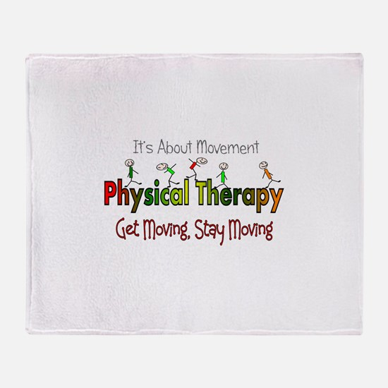 Physical therapy 5 sticks GREEN ORAN Throw Blanket