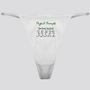 Physical Therapist 5 Stick People Classic Thong