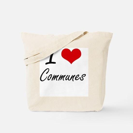 I love Communes Artistic Design Tote Bag