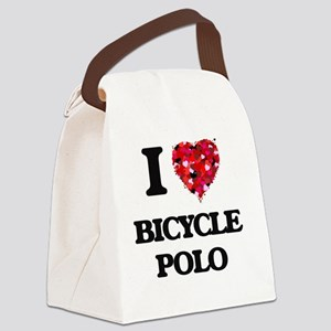 I Love Bicycle Polo Canvas Lunch Bag