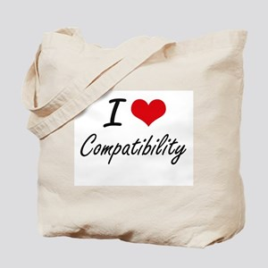 I love Compatibility Artistic Design Tote Bag